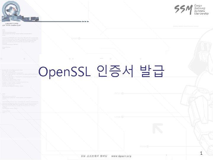 Open. SSL 인증서 발급 1