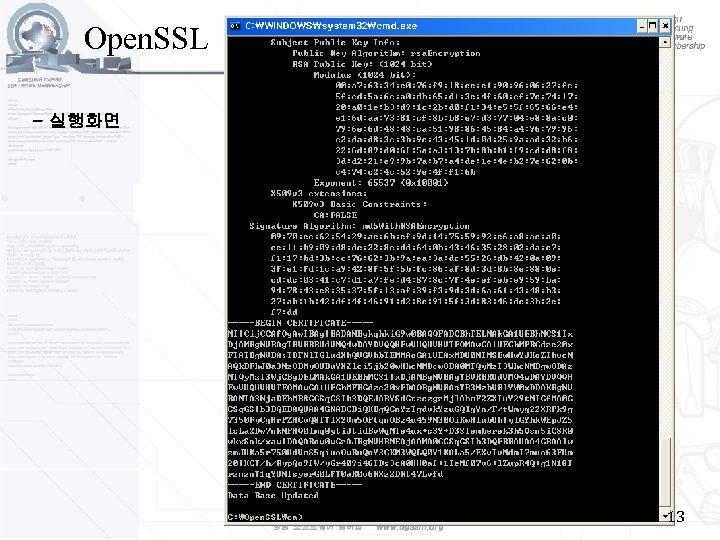 Open. SSL - 실행화면 13