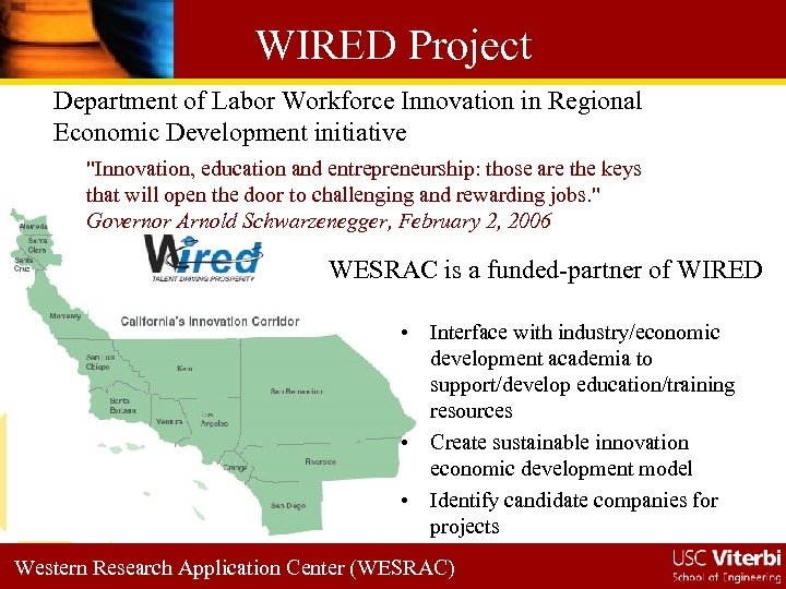 WIRED Project Department of Labor Workforce Innovation in Regional Economic Development initiative
