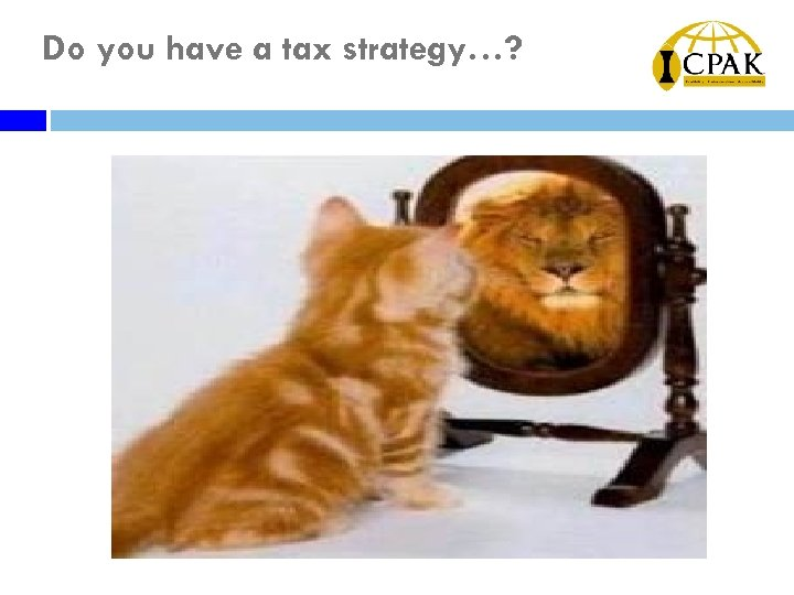 Do you have a tax strategy…?