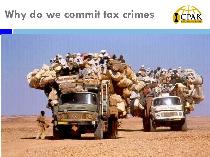Why do we commit tax crimes