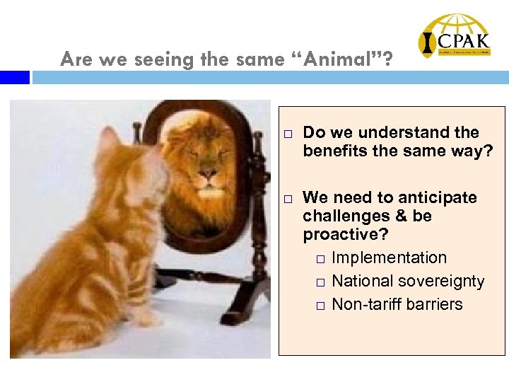 "Are we seeing the same ""Animal""? ¨ ¨ Do we understand the benefits the"