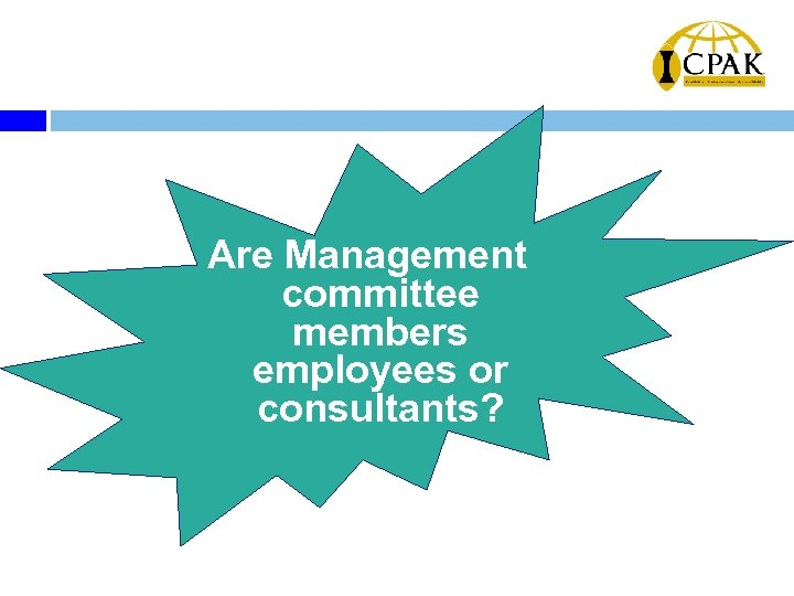 Are Management committee members employees or consultants?