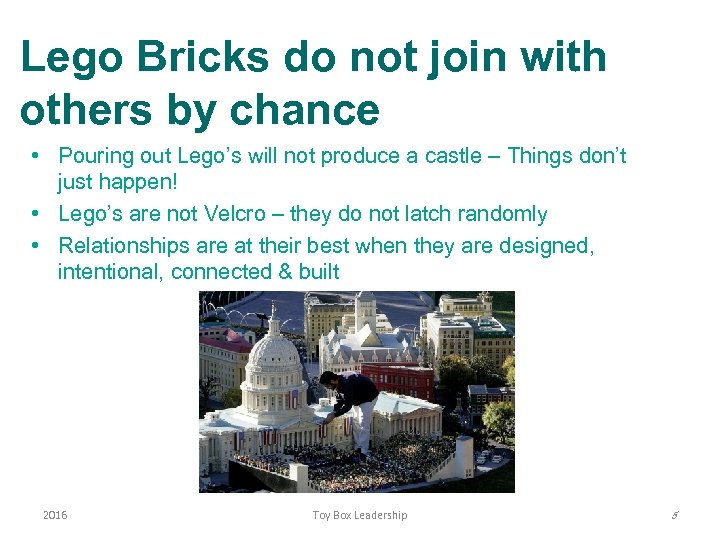 Lego Bricks do not join with others by chance • Pouring out Lego's will