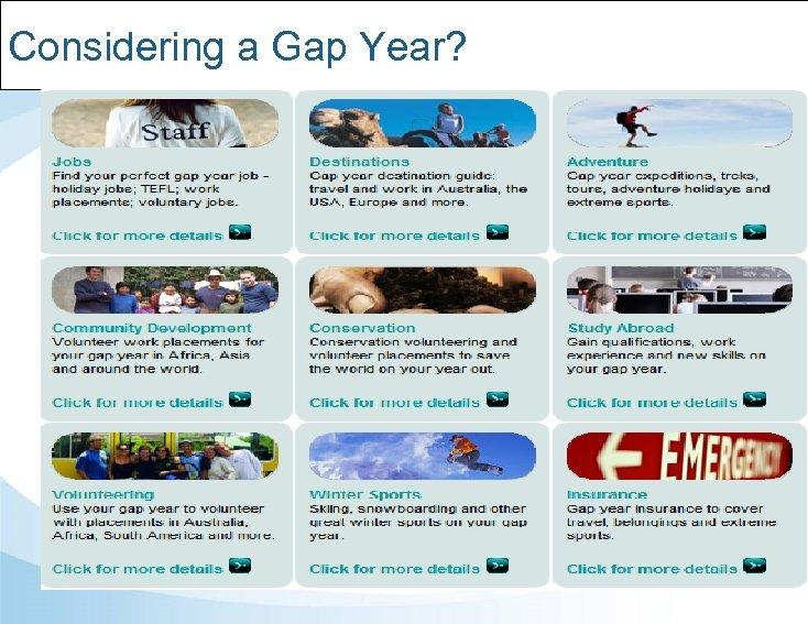 Considering a Gap Year?