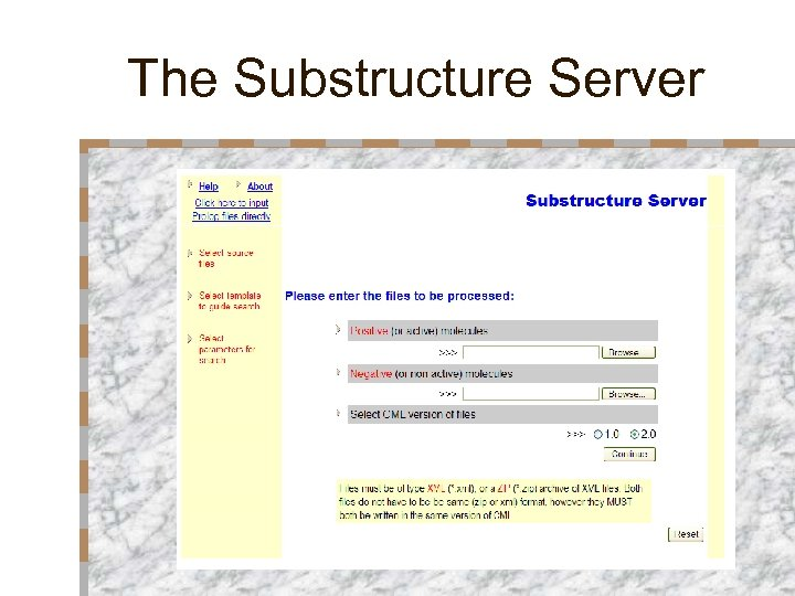 The Substructure Server