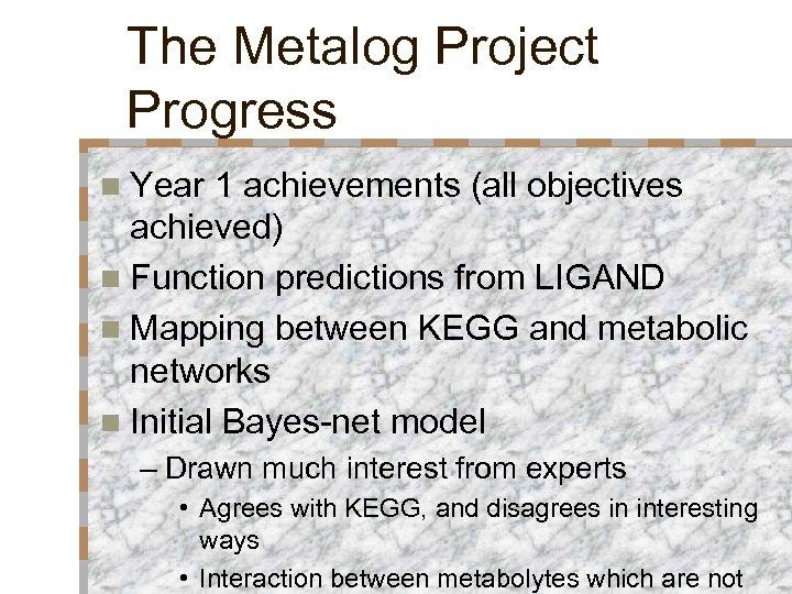 Machine Learning in Bioinformatics Simon Colton The