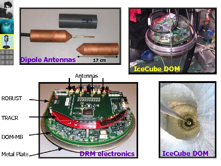 Dipole Antennas 17 cm Antennas Ice. Cube DOM ROBUST TRACR DOM-MB Metal Plate DRM