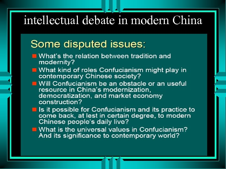 intellectual debate in modern China