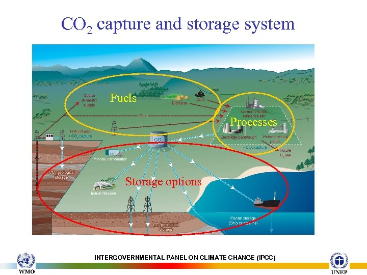 CO 2 capture and storage system Fuels Processes Storage options INTERGOVERNMENTAL PANEL ON CLIMATE