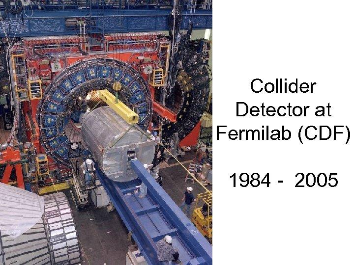 Collider Detector at Fermilab (CDF) 1984 - 2005