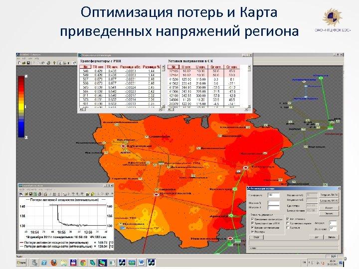 Оптимизация потерь и Карта приведенных напряжений региона © ОАО «НТЦ ФСК ЕЭС» 24/02/12 ФИО