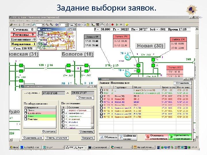 Задание выборки заявок. © ОАО «НТЦ ФСК ЕЭС» 24/02/12 ФИО 42 42