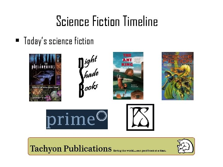 Science Fiction Timeline • Today's science fiction