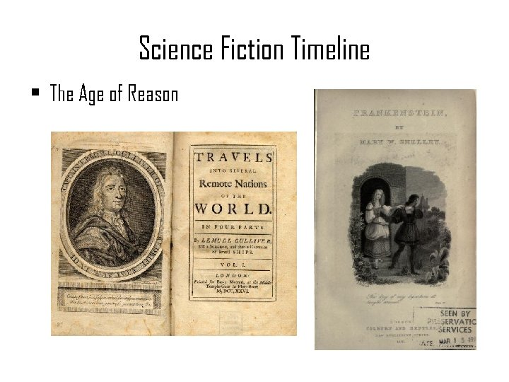 Science Fiction Timeline • The Age of Reason