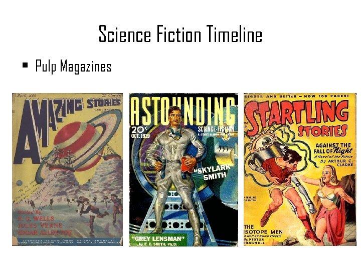 Science Fiction Timeline • Pulp Magazines