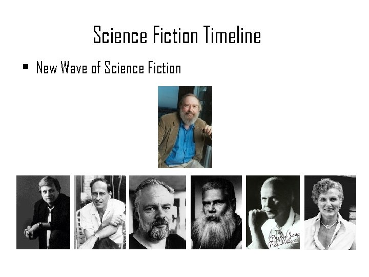 Science Fiction Timeline • New Wave of Science Fiction