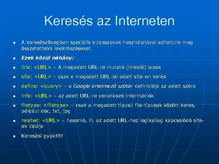 keresés az internetes keresetek között)