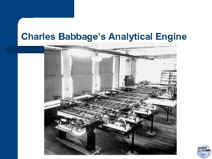 Charles Babbage's Analytical Engine