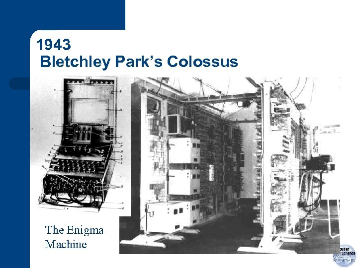 1943 Bletchley Park's Colossus The Enigma Machine