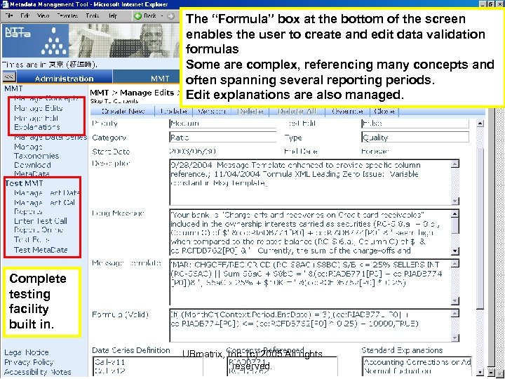 """The """"Formula"""" box at the bottom of the screen enables the user to create"""