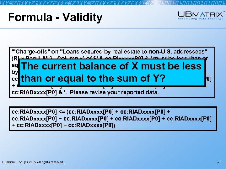 Formula - Validity '