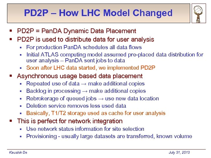 PD 2 P – How LHC Model Changed § PD 2 P = Pan.