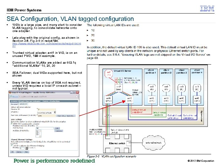 IBM Power Systems SEA Configuration, VLAN tagged configuration § 10 Gb is a large