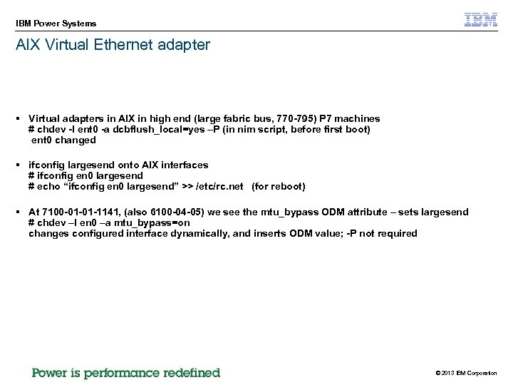 IBM Power Systems AIX Virtual Ethernet adapter § Virtual adapters in AIX in high