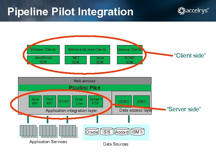 Pipeline Pilot Integration Browser Clients Native and Java Clients Java. Script SDK . NET