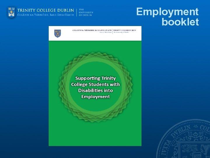 Employment booklet