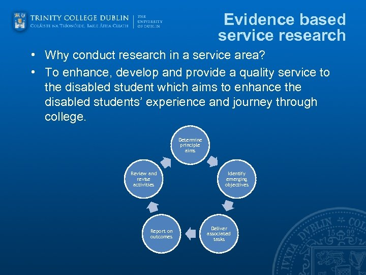 Evidence based service research • Why conduct research in a service area? • To