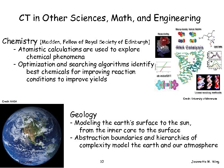CT in Other Sciences, Math, and Engineering Chemistry [Madden, Fellow of Royal Society of