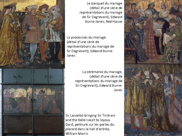 Le banquet du mariage (détail d'une série de représentations du mariage de Sir Degrevant),
