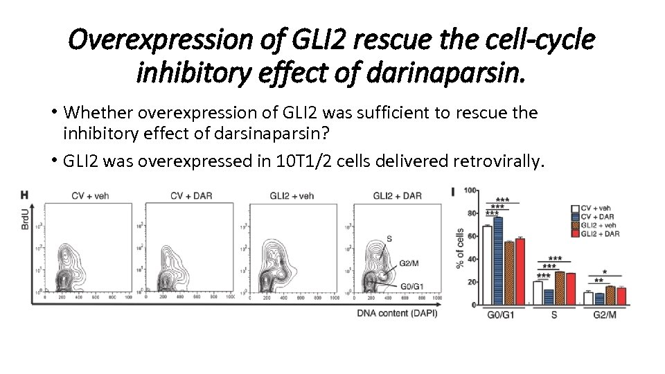 Overexpression of GLI 2 rescue the cell-cycle inhibitory effect of darinaparsin. • Whether overexpression
