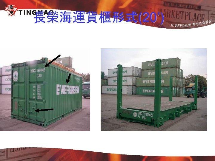 長榮海運貨櫃形式(20')