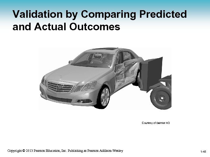 Validation by Comparing Predicted and Actual Outcomes Courtesy of Daimler AG 1 -45 Copyright