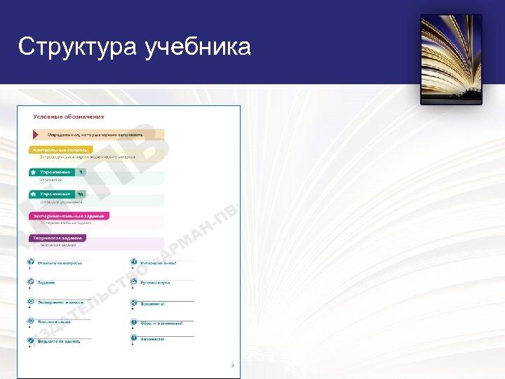 Структура учебника