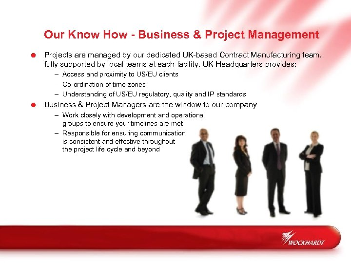 Our Know How - Business & Project Management = Projects are managed by our
