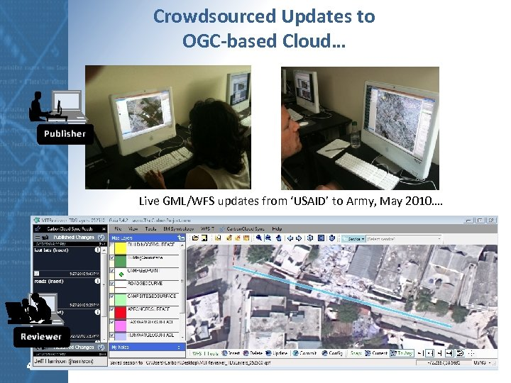 Crowdsourced Updates to OGC-based Cloud… Publisher Live GML/WFS updates from 'USAID' to Army, May