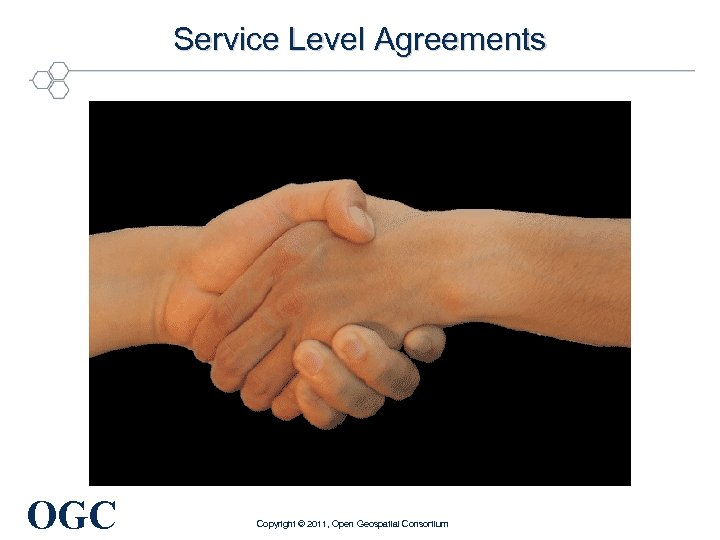 Service Level Agreements OGC Copyright © 2011, Open Geospatial Consortium