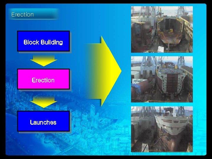 Erection Block Building Erection Launches