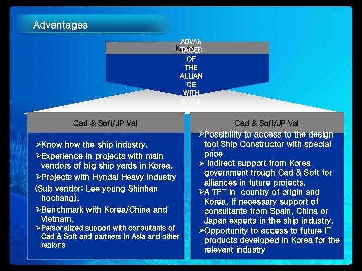 Advantages ADVAN Korea TAGES OF THE ALLIAN CE WITH CAD & SOFT Cad &