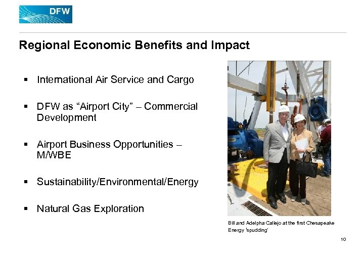 Regional Economic Benefits and Impact § International Air Service and Cargo § DFW as
