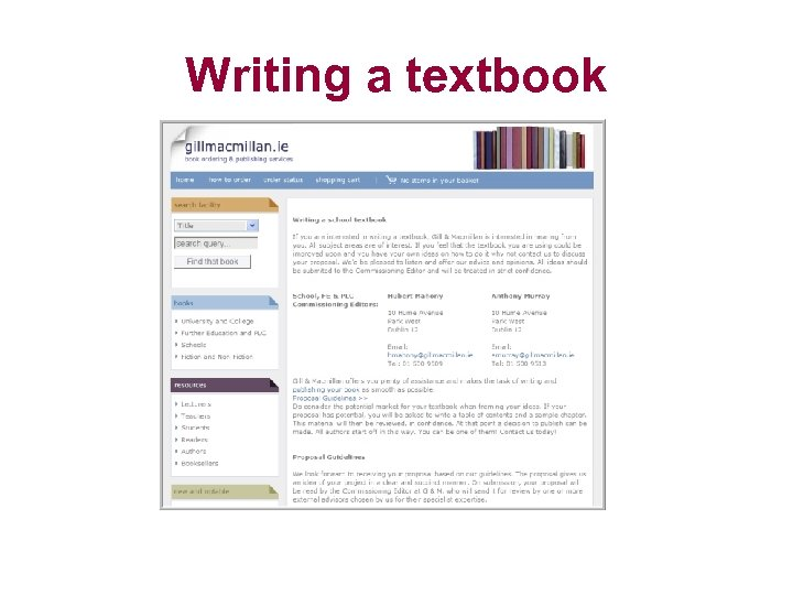 Writing a textbook