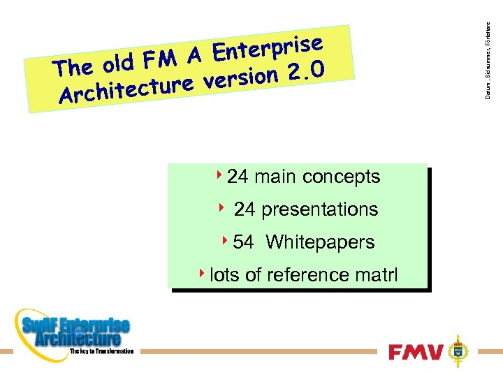 424 4 main concepts 24 presentations 454 4 lots Whitepapers of reference matrl Datum