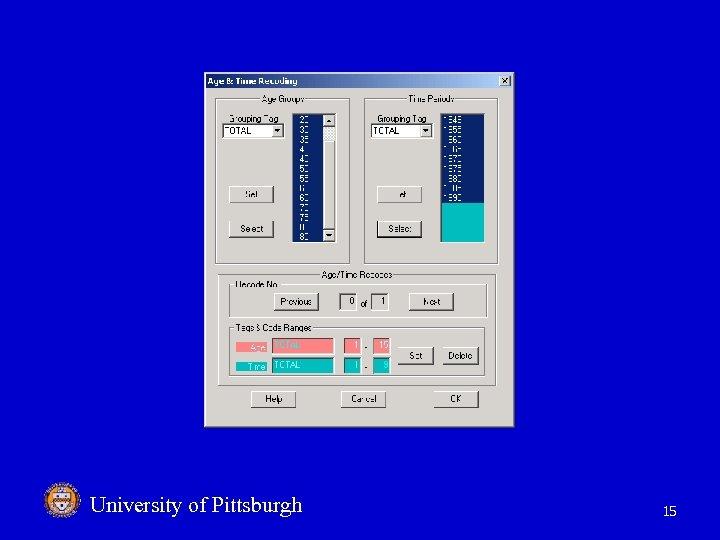 University of Pittsburgh 15