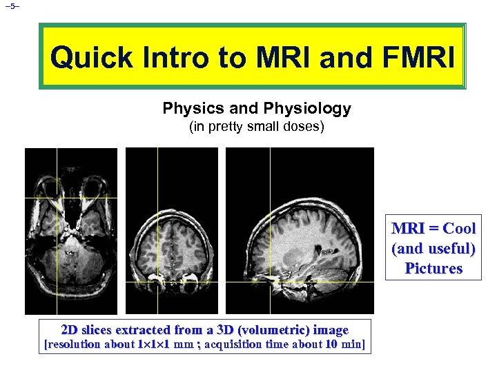 – 5– Quick Intro to MRI and FMRI Physics and Physiology (in pretty small