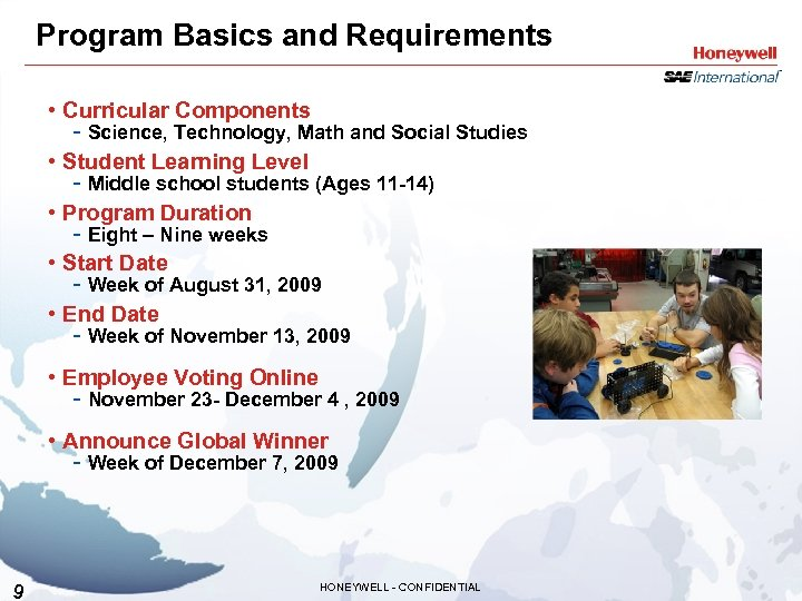 Program Basics and Requirements • Curricular Components - Science, Technology, Math and Social Studies