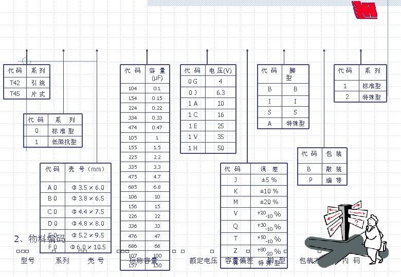 代 码 系 列 T 42 引 线 T 45 片 式 代 码